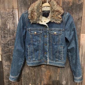 Stussy Jean Jacket W/Faux Fur